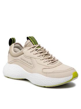 Calvin Klein Jeans Calvin Klein Jeans Sneakersy Sporty Runner Laceup Sneaker YM0YM00294 Béžová