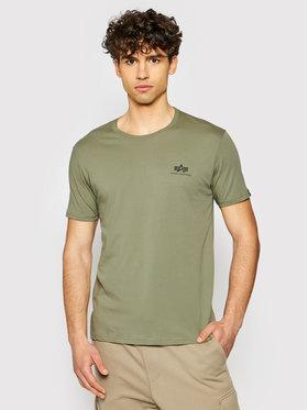 Alpha Industries Alpha Industries T-shirt Basic Logo 188505 Vert Regular Fit