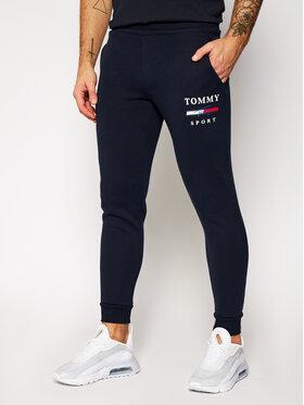 Tommy Sport Tommy Sport Pantalon jogging Graphic S10S100699 Bleu marine Slim Fit