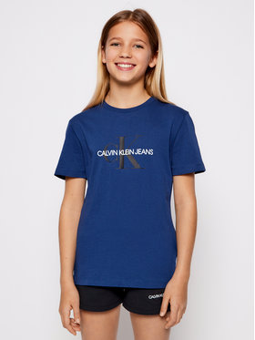 Calvin Klein Jeans Calvin Klein Jeans Póló Monogram Logo IU0IU00068 Sötétkék Regular Fit