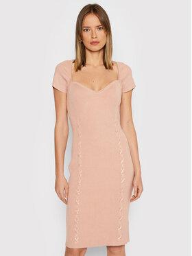 Guess Guess Sukienka dzianinowa W1BK5 1Z17X3 Różowy Slim Fit