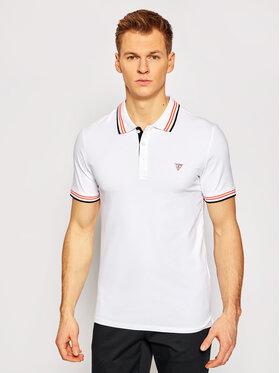 Guess Guess Тениска с яка и копчета M1RP66 J1311 Бял Extra Slim Fit