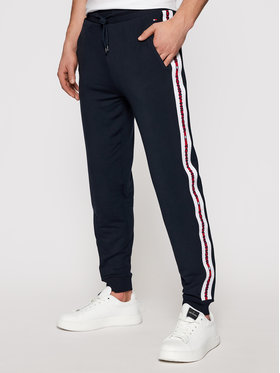Tommy Hilfiger Tommy Hilfiger Pantalon jogging Repeat Logo UM0UM01918 Bleu marine Regular Fit