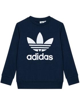 adidas adidas Bluză Trefoil Crew GN8250 Bleumarin Regular Fit