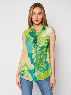 Guess Guess Marškiniai W1GH0R W70Q0 Žalia Regular Fit