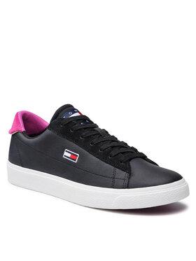 Tommy Jeans Tommy Jeans Sneakers Leather Low Cut Vulc EN0EN01502 Nero