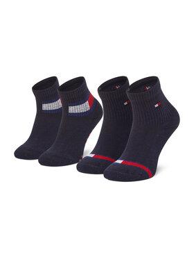 Tommy Hilfiger Tommy Hilfiger Súprava 2 párov vysokých detských ponožiek 100002319 Tmavomodrá