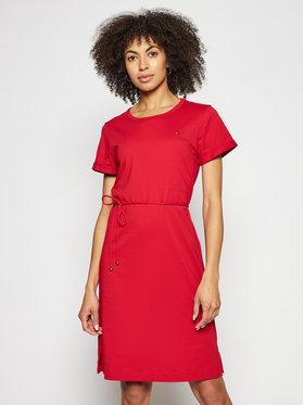 Tommy Hilfiger Tommy Hilfiger Kleid für den Alltag Shift WW0WW27812 Rot Regular Fit