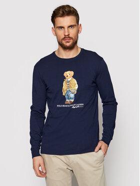 Polo Ralph Lauren Polo Ralph Lauren Longsleeve Lsl 710828276001 Granatowy Slim Fit