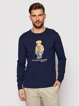 Polo Ralph Lauren Polo Ralph Lauren Тениска с дълъг ръкав Lsl 710828276001 Тъмносин Slim Fit