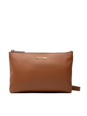 Calvin Klein Calvin Klein Дамска чанта Ck Must Ew Dbl Cpt Xbody K60K608409 Кафяв