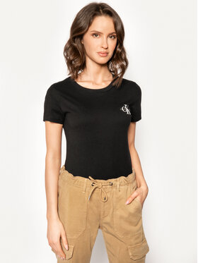 Calvin Klein Jeans Calvin Klein Jeans 2er-Set T-Shirts Lot De J20J214364 Schwarz Slim Fit