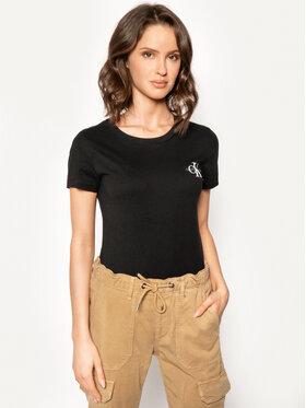 Calvin Klein Jeans Calvin Klein Jeans Set 2 tricouri Lot De J20J214364 Negru Slim Fit