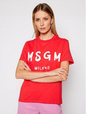 MSGM MSGM T-shirt 3041MDM60 217298 Crvena Regular Fit