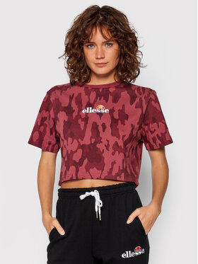 Ellesse Ellesse T-Shirt Fireball Camo SGK12431 Bordowy Relaxed Fit