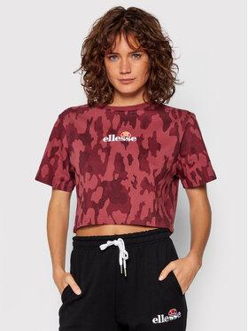 Ellesse Ellesse T-Shirt Fireball Camo SGK12431 Dunkelrot Relaxed Fit