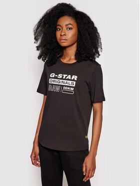 G-Star Raw G-Star Raw Тишърт Compact D19975-C506-6484 Черен Regular Fit