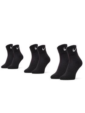 NIKE NIKE Σετ 3 ζευγάρια κοντές κάλτσες unisex Cushioned SX4926 001 Μαύρο