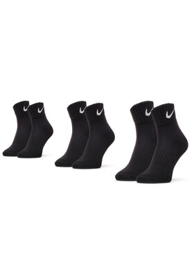 Nike Nike Σετ 3 ζευγάρια κοντές κάλτσες unisex SX4926 001 Μαύρο