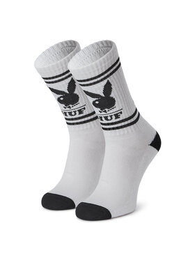 HUF HUF Κάλτσες Ψηλές Γυναικείες Playboy SK00580 r.OS Λευκό