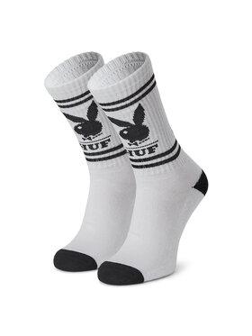 HUF HUF Vysoké dámske ponožky Playboy SK00580 r.OS Biela