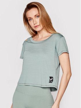 Asics Asics Тениска от техническо трико Sakura 2012B945 Зелен Regular Fit