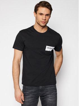 Calvin Klein Calvin Klein Tricou Bold Stripe Pocket K10K106531 Negru Regular Fit